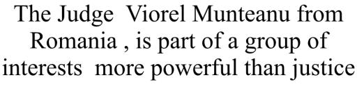 Judecatorul Munteanu Viorel