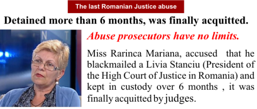 The last Romanian Justice abuse